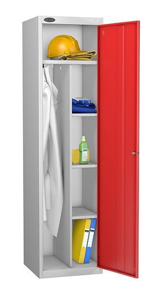 Probe red uniform locker