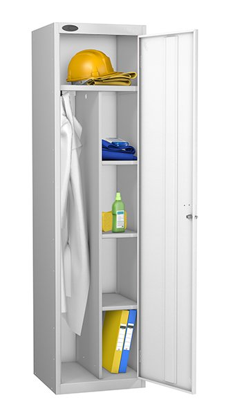 Probe white uniform locker