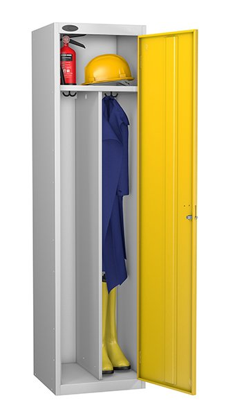 Probe yellow locker for clean and dirty environment