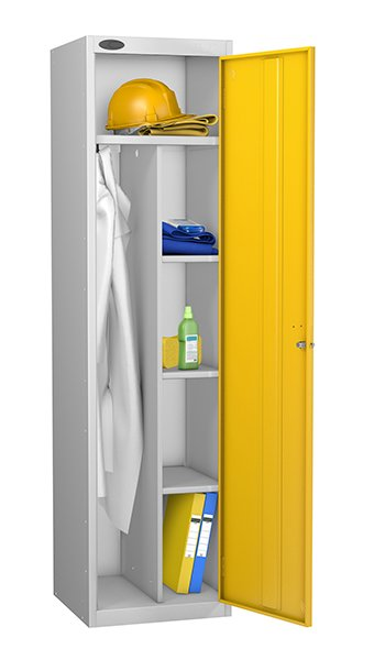 Probe yellow uniform locker
