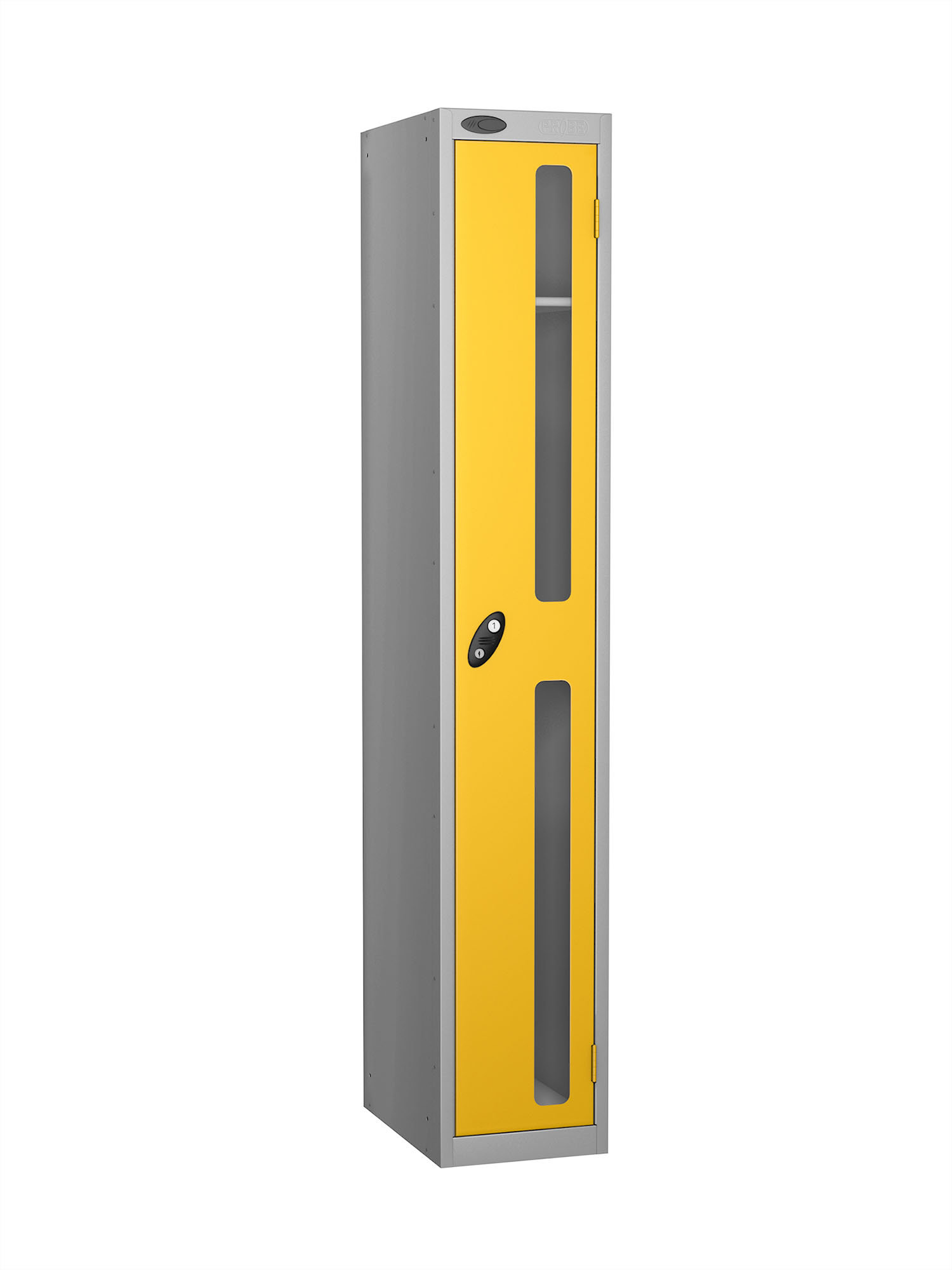 Probe 1 door vision panel anti-stock theft locker yellow
