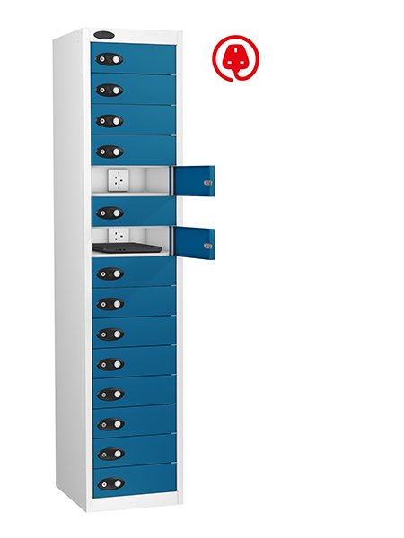 Probe 15 doors blue lapbox charging locker