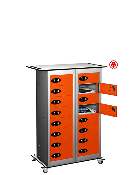Probe 16 door charging trolley tabbox orange
