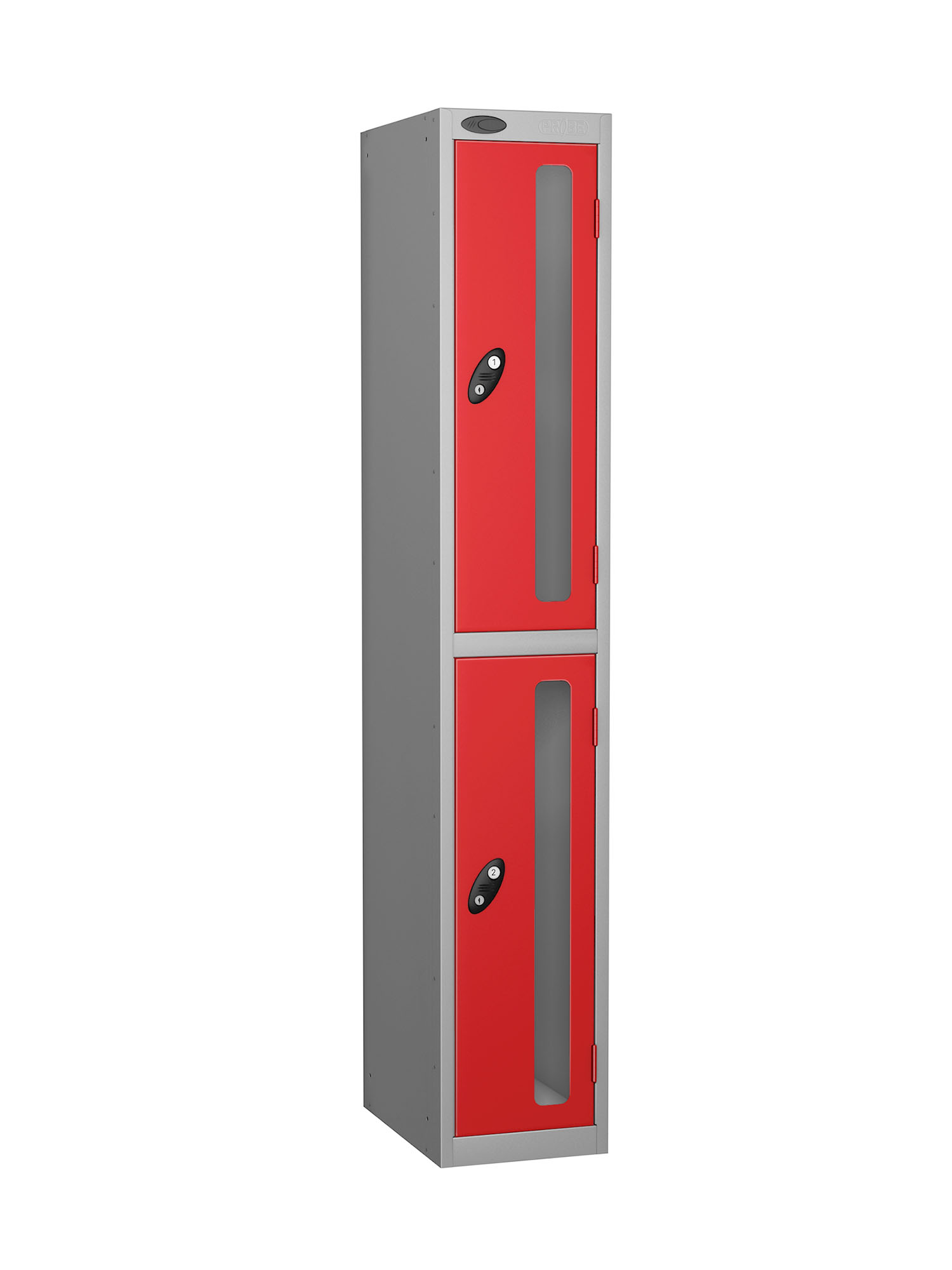 Probe 2 doors vision panel anti-stock theft locker red