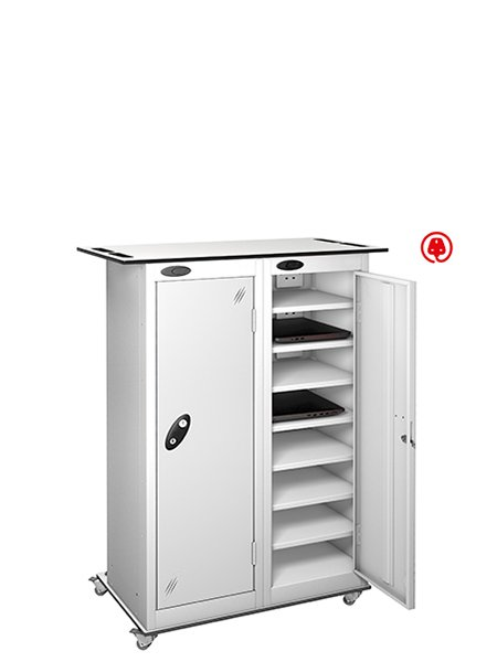 Probe 2 doors white lapbox charging locker
