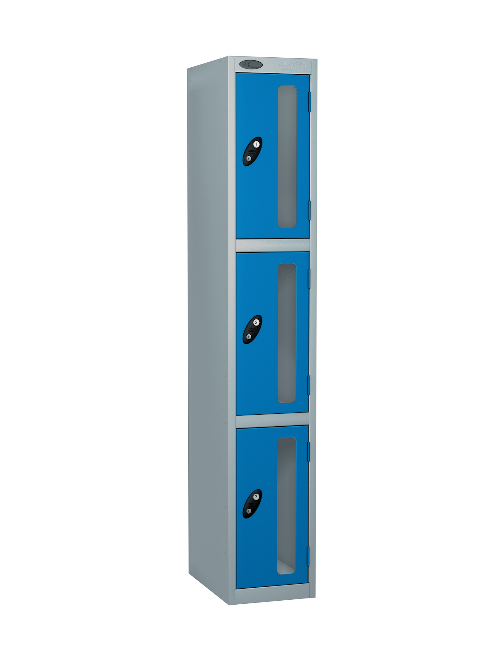 Probe 3 doors vision panel anti-stock theft locker blue