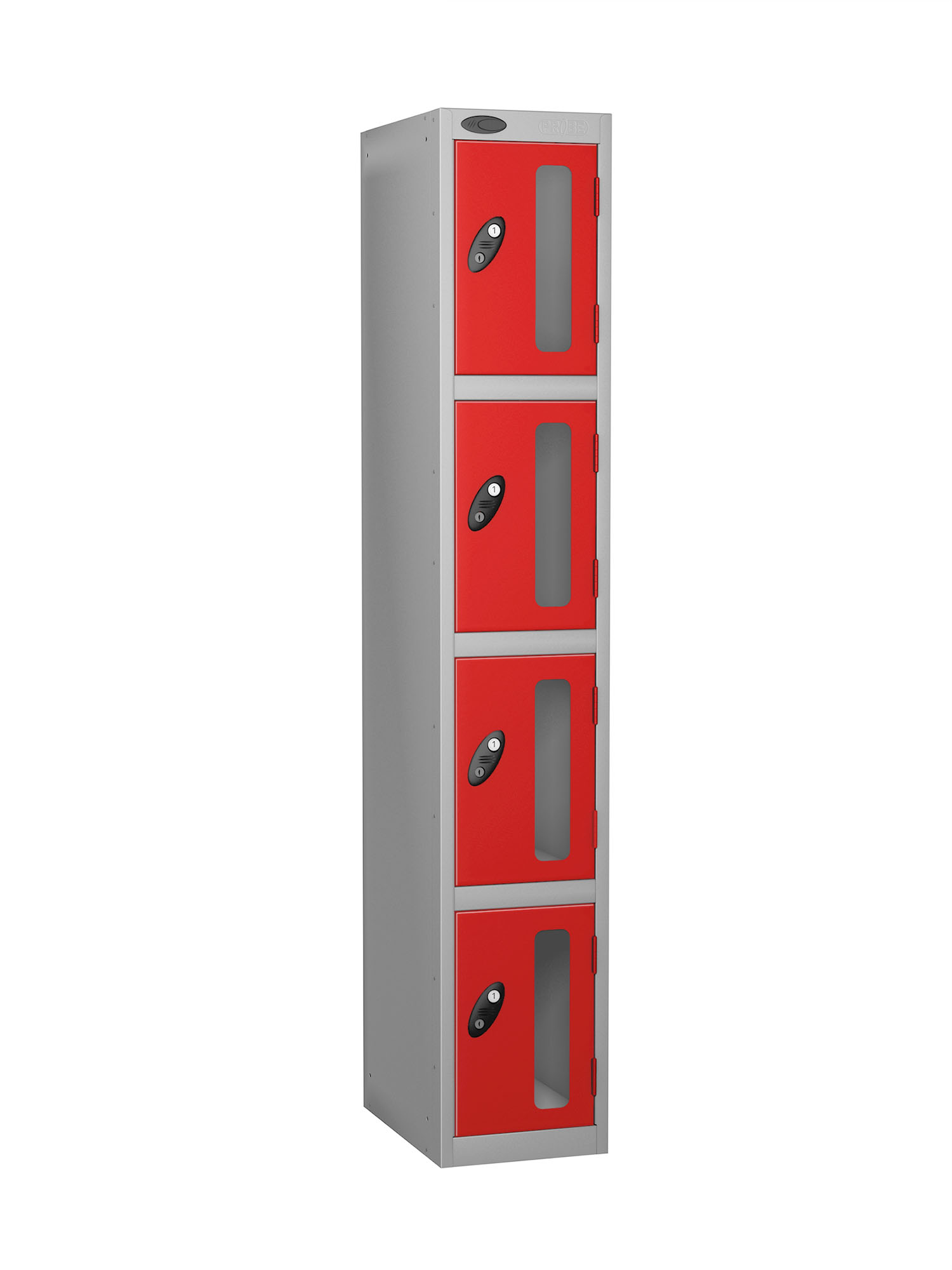 Probe 4 doors vision panel anti-stock theft locker red