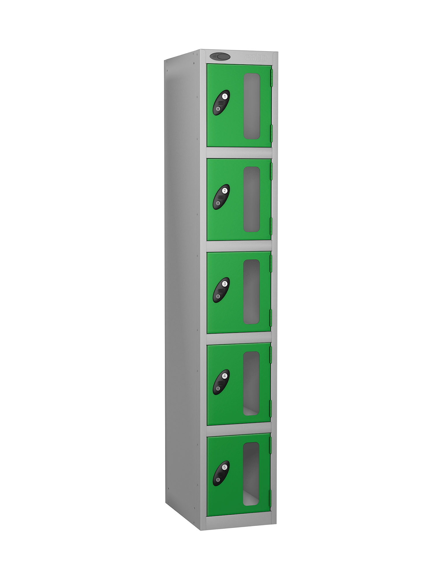 Probe 5 doors vision panel anti-stock theft locker green