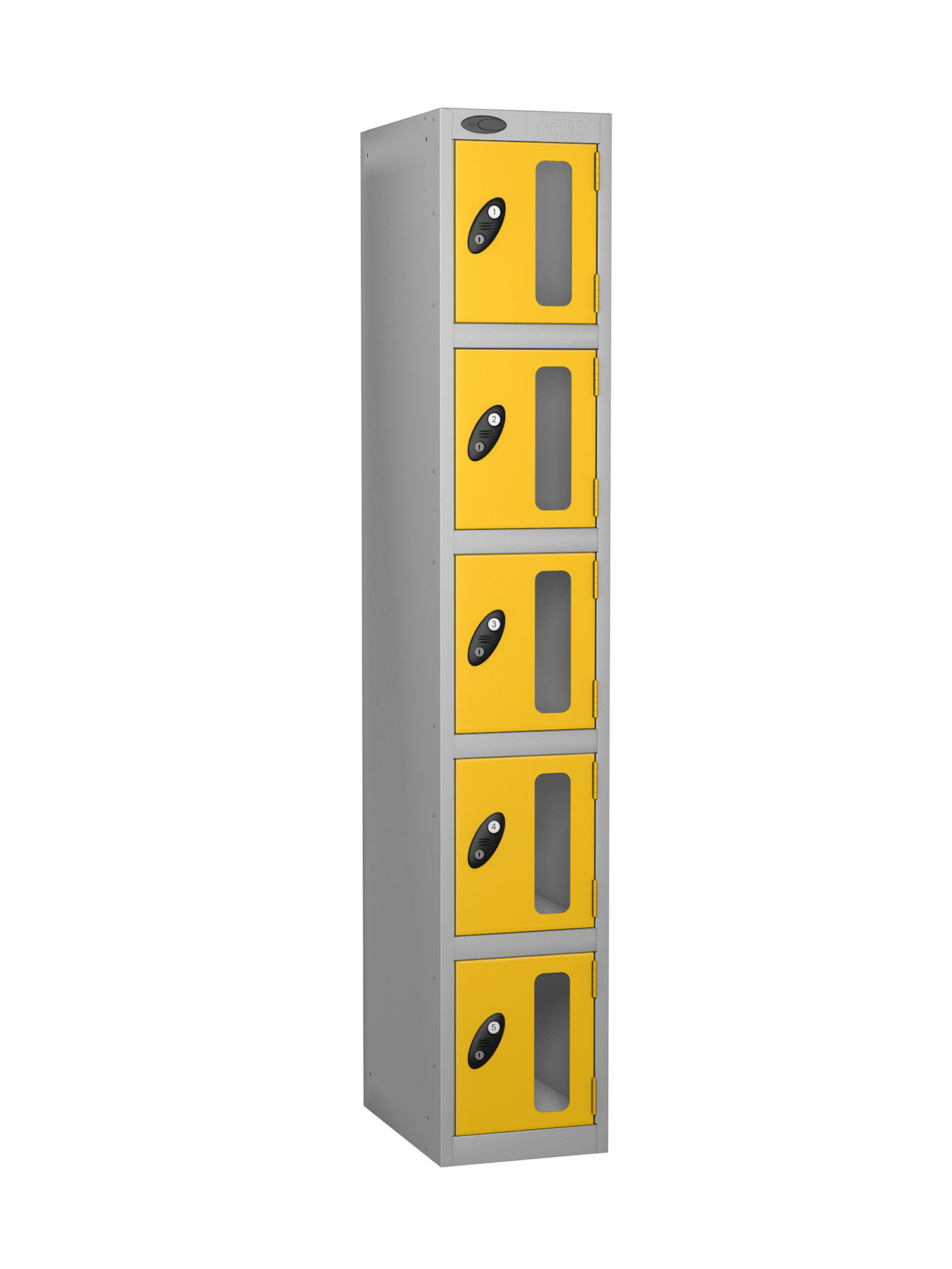 Probe 5 doors vision panel anti-stock theft locker yellow