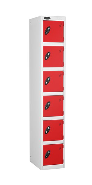 Probe 6 doors steel locker red