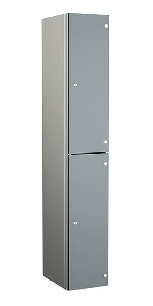 Probe aluminum locker 2 doors dark dust