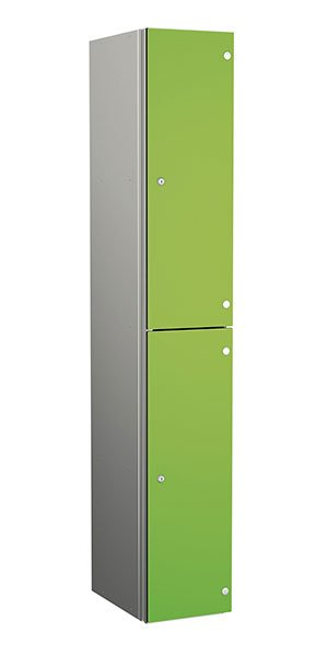 Probe aluminum locker 2 doors dark lime