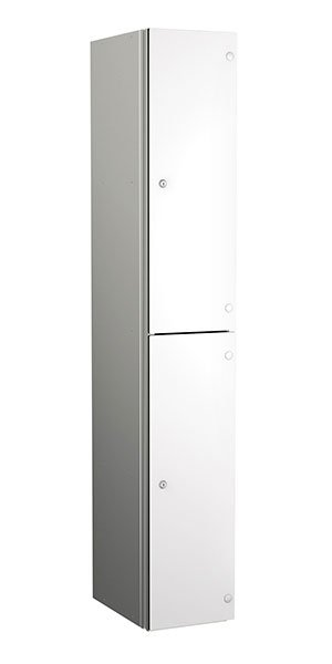 Probe aluminum locker 2 doors dark white
