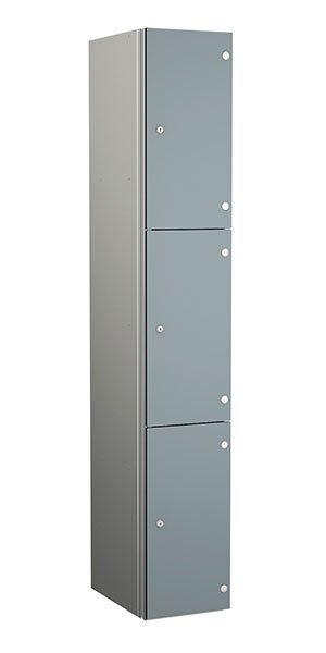 Probe aluminum locker 3 doors dark dust