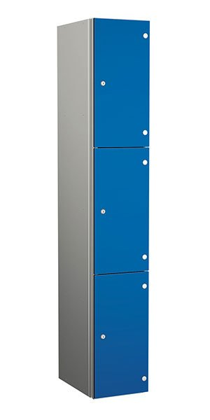Probe aluminum locker 3 doors dark electric blue
