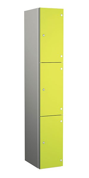 Probe aluminum locker 3 door dark lime yellow