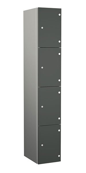 Probe aluminum locker 4 doors dark grey