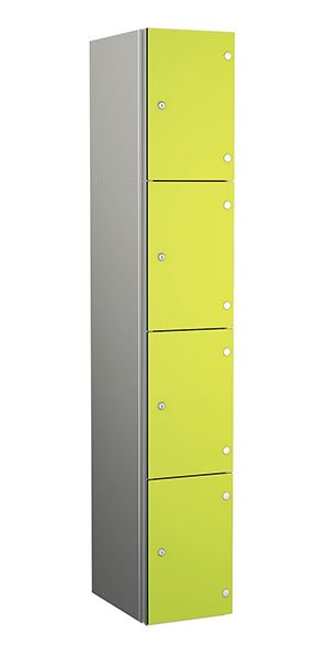 Probe aluminum locker 4 doors dark lime yellow