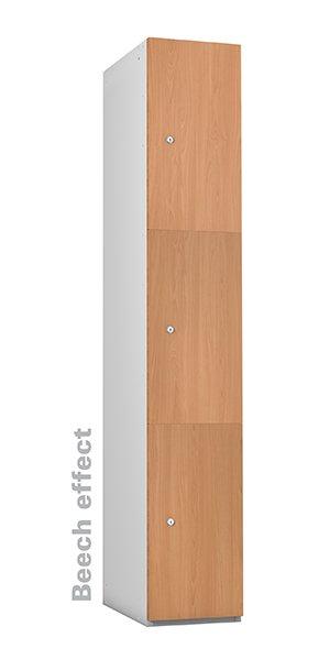 Probe beech timber 3 doors lockers