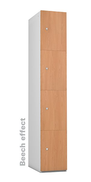 Probe beech timber 4 doors locker