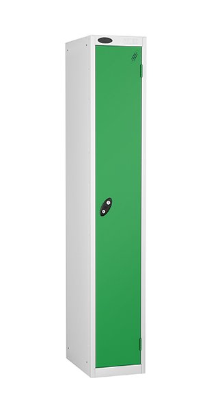 Probe single door steel locker green