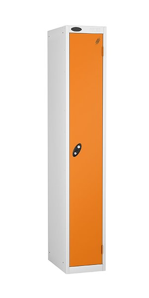 Probe single door steel locker orange