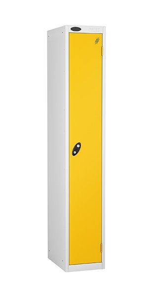 Probe single door steel locker yellow