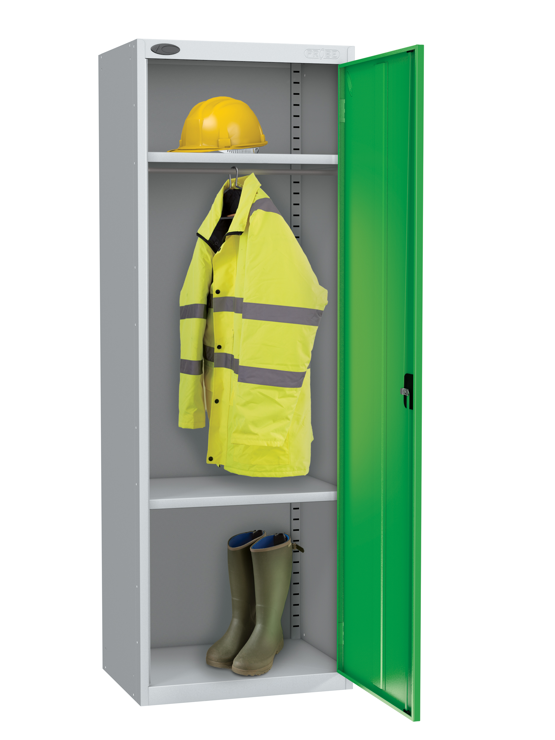 Probe high capacity specialist locker with division in green colour