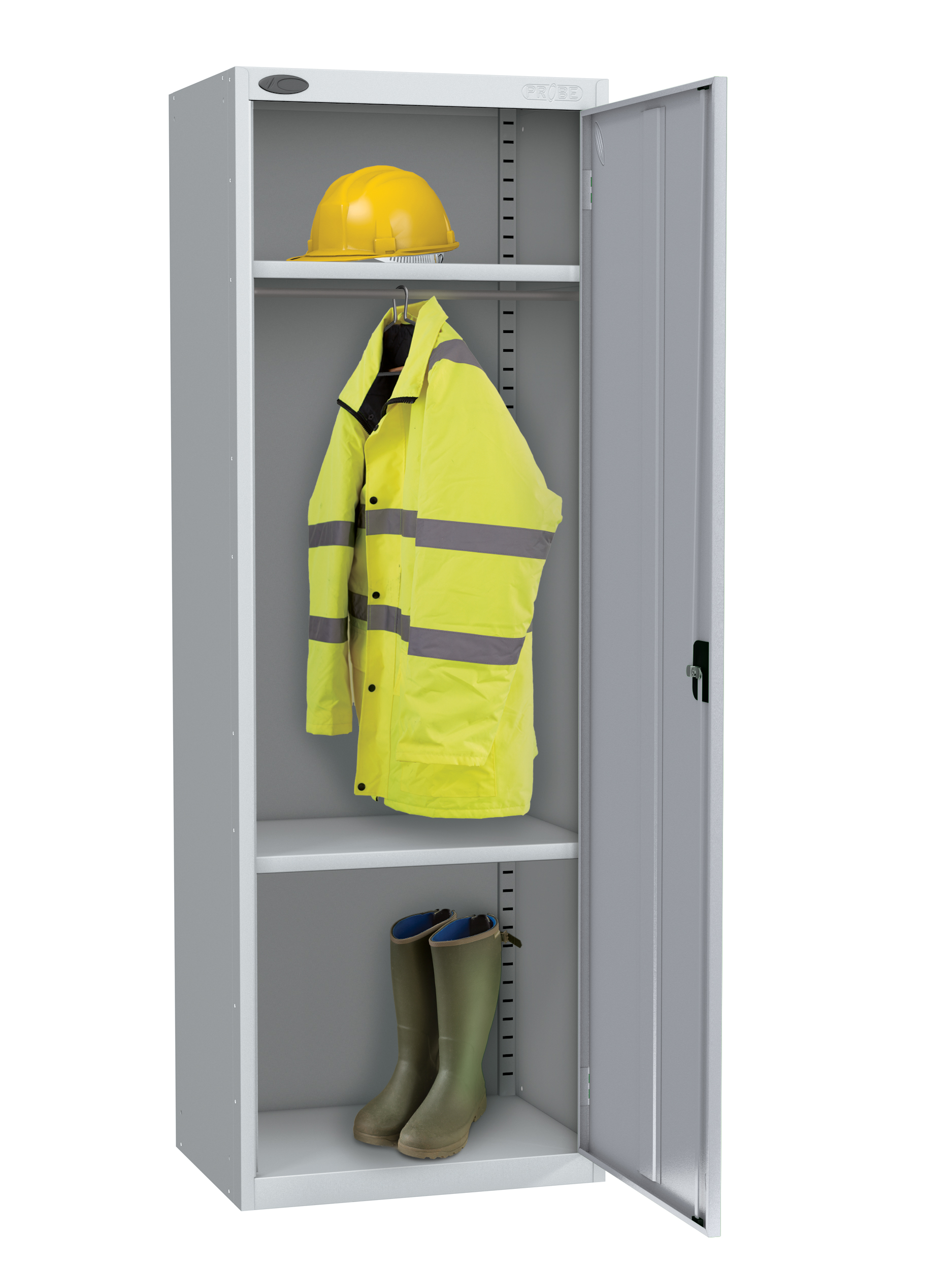 Probe high capacity specialist locker with division in silver colour