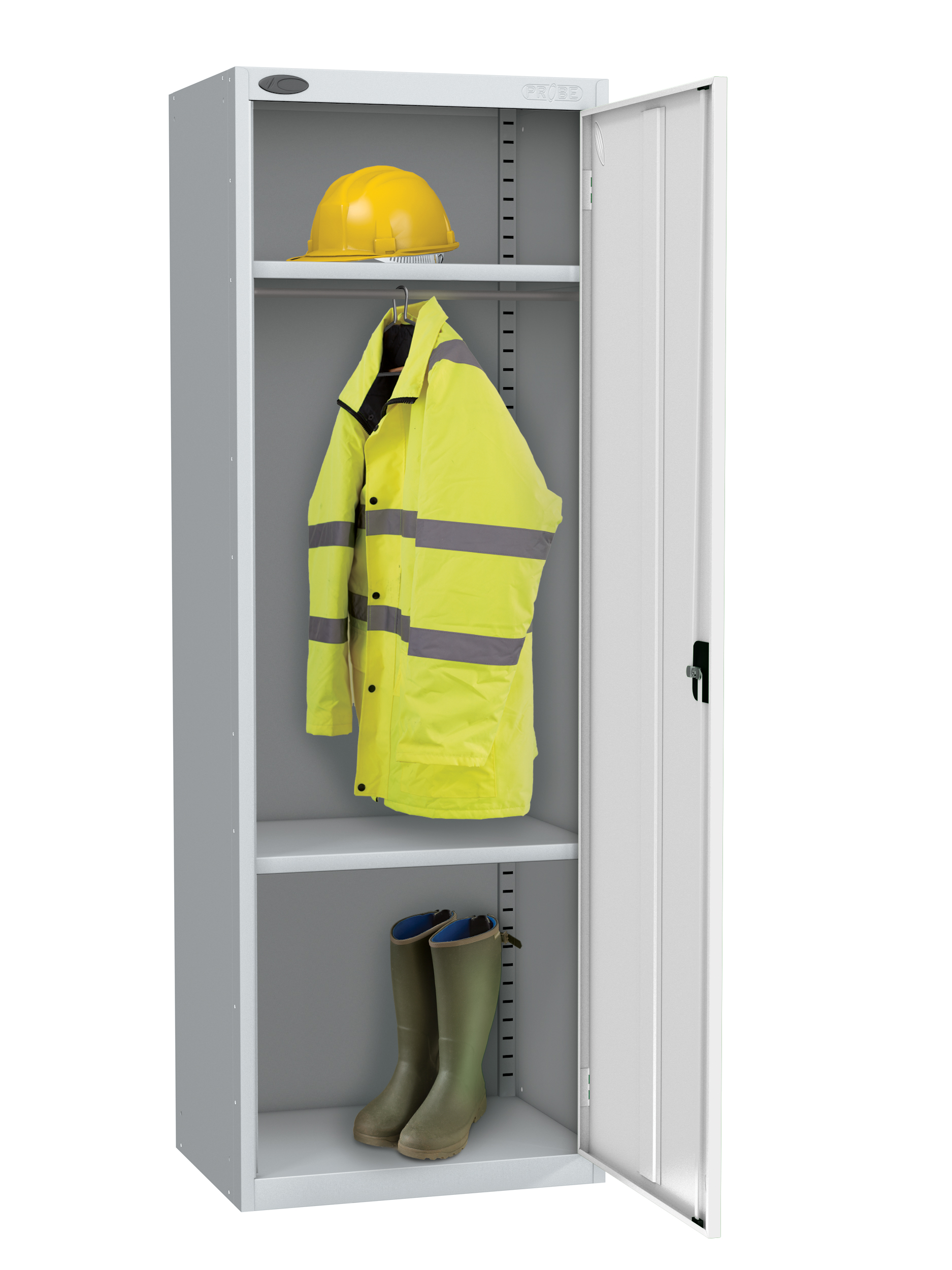 Probe high capacity with division locker white