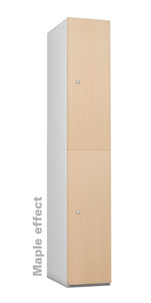 Probe maple timber 2 doors lockers