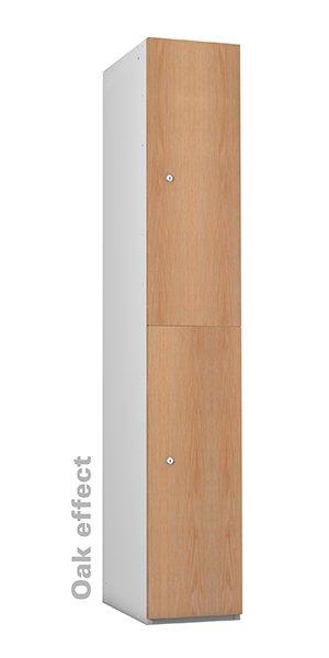Probe oak timber 2 doors lockers