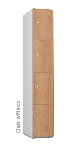 Probe oak timber 4 doors lockers