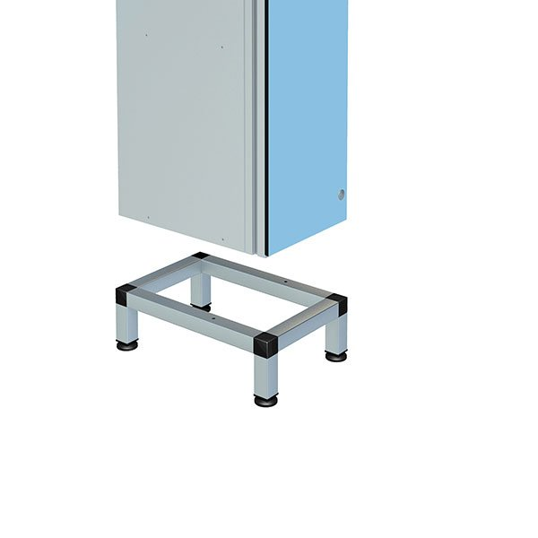 Probe stand for single aluminum locker