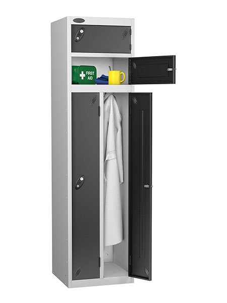 Probe twin and two person black locker
