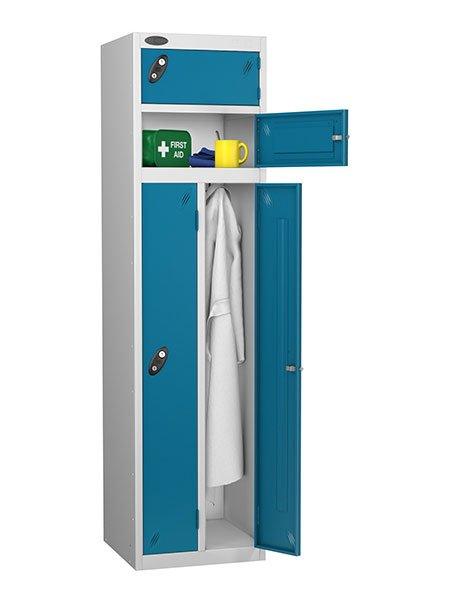 Probe twin and two person blue locker