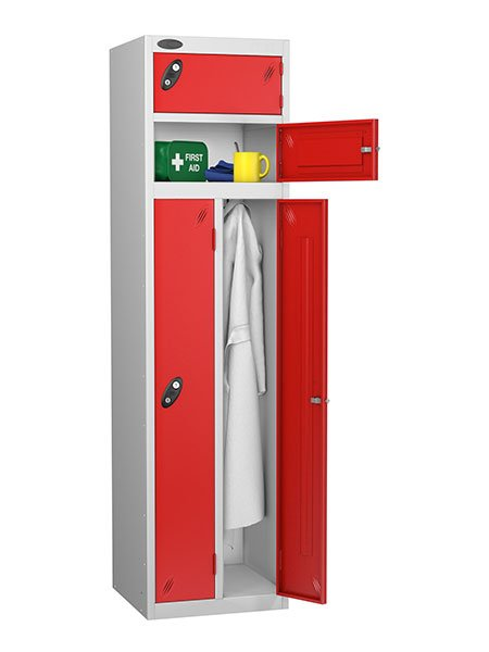 Probe twin and two person red locker