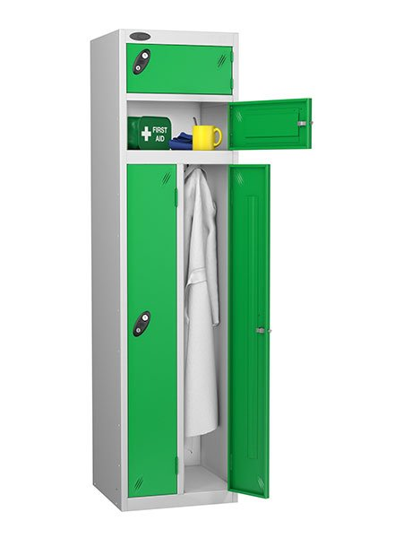 Probe twin and two person green locker