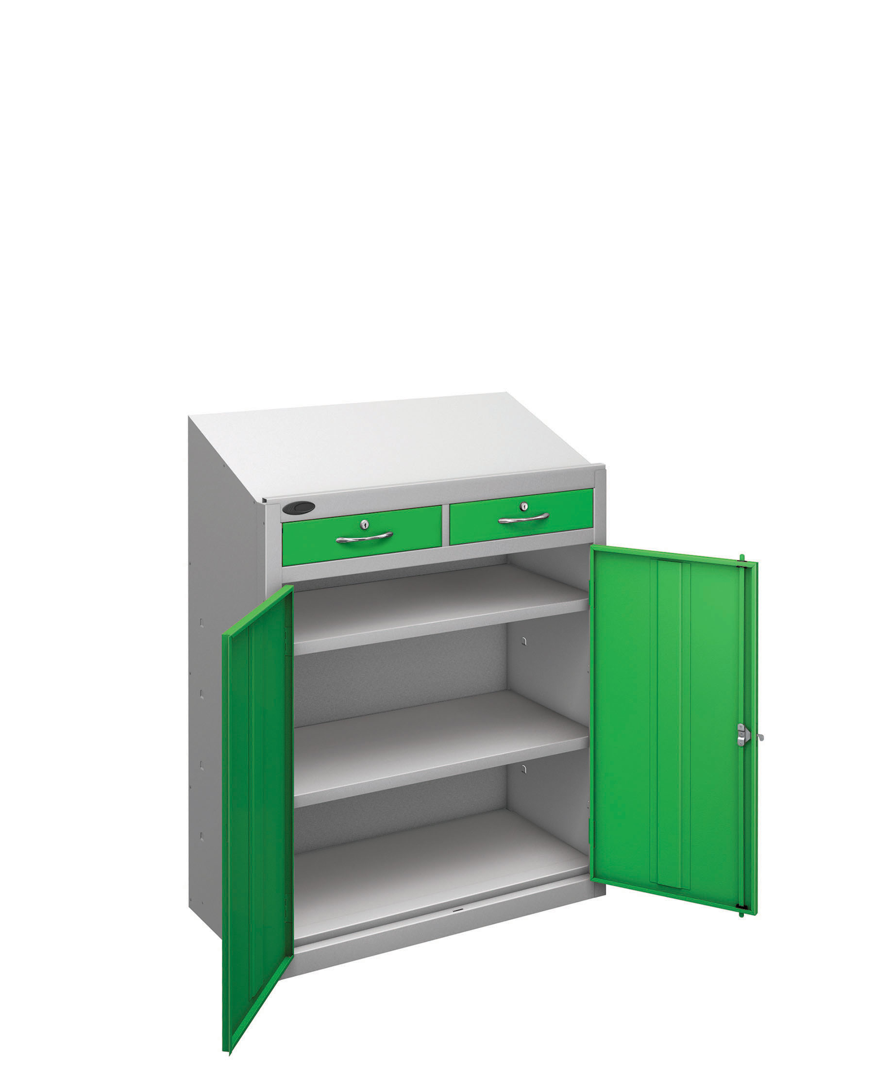 Probe workstation slope drawer green