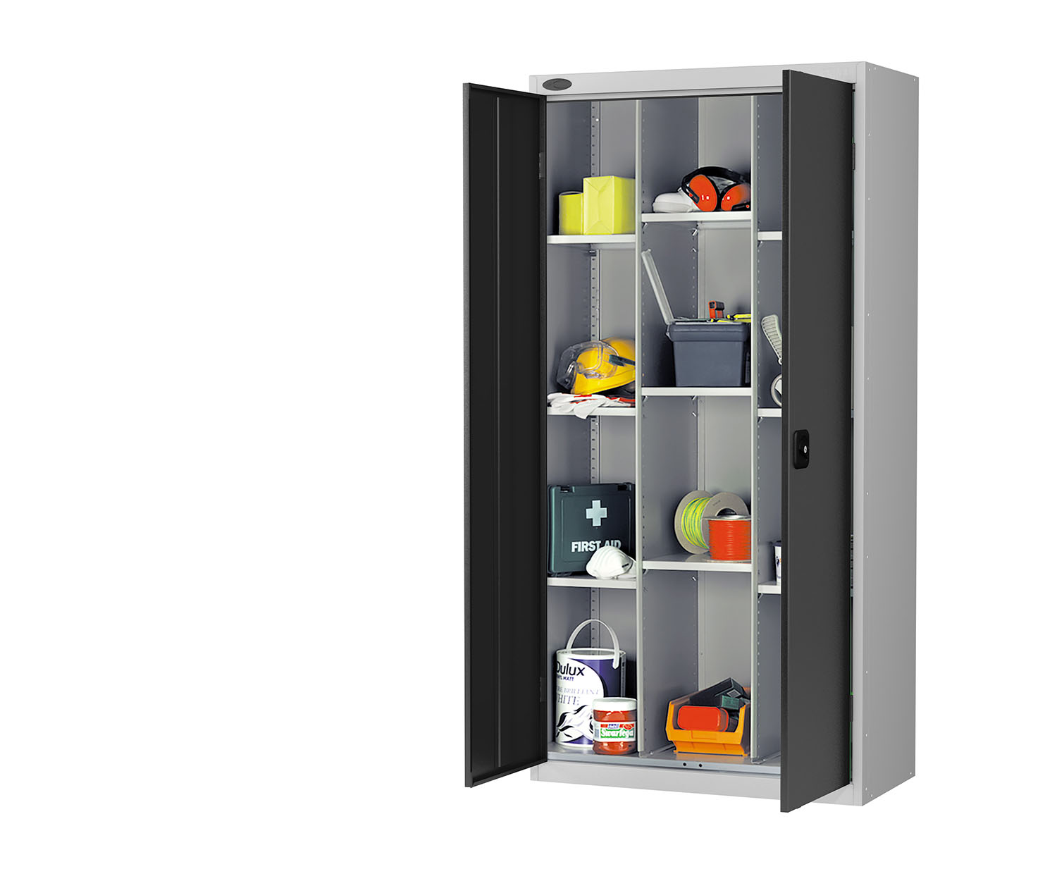 Probe compartment cupboard black