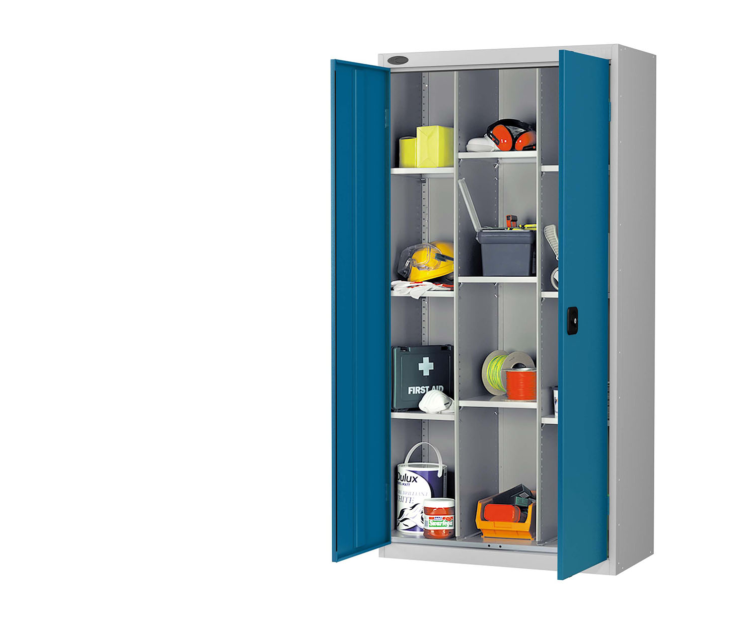 Probe compartment cupboard blue