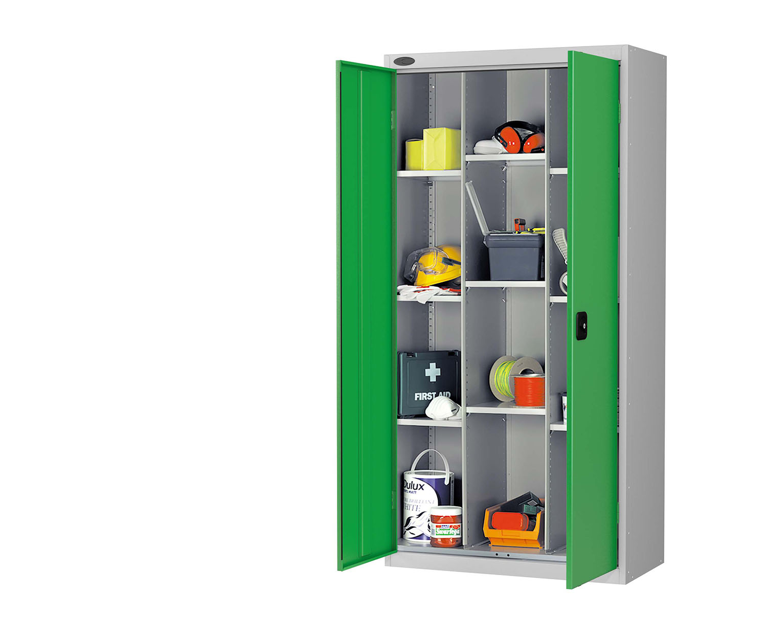 Probe compartment cupboard green