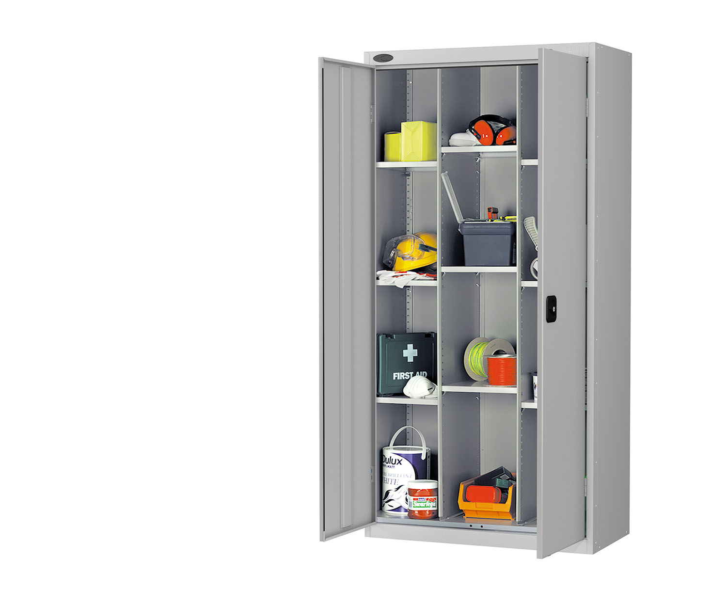Probe compartment cupboard silver