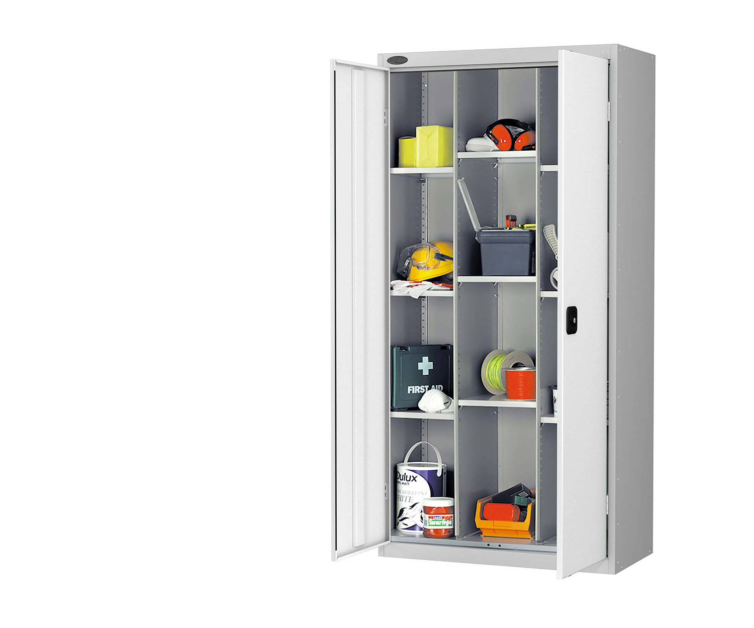 Probe compartment cupboard white