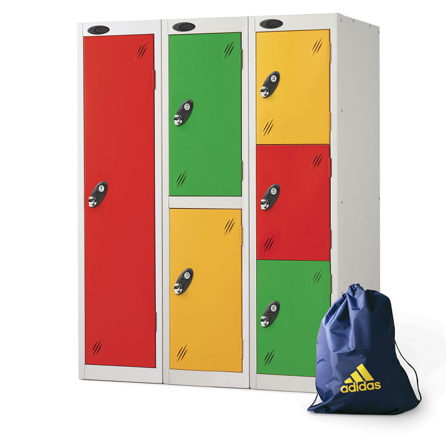 Probe 1,2,3 doors low locker in multi colours