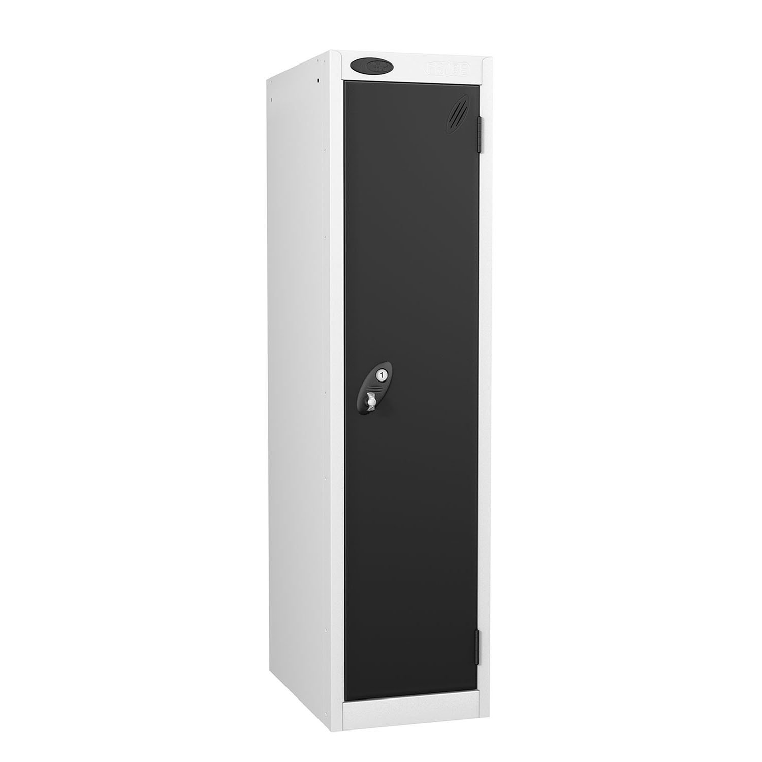 Probe 1 door low locker in black colour.