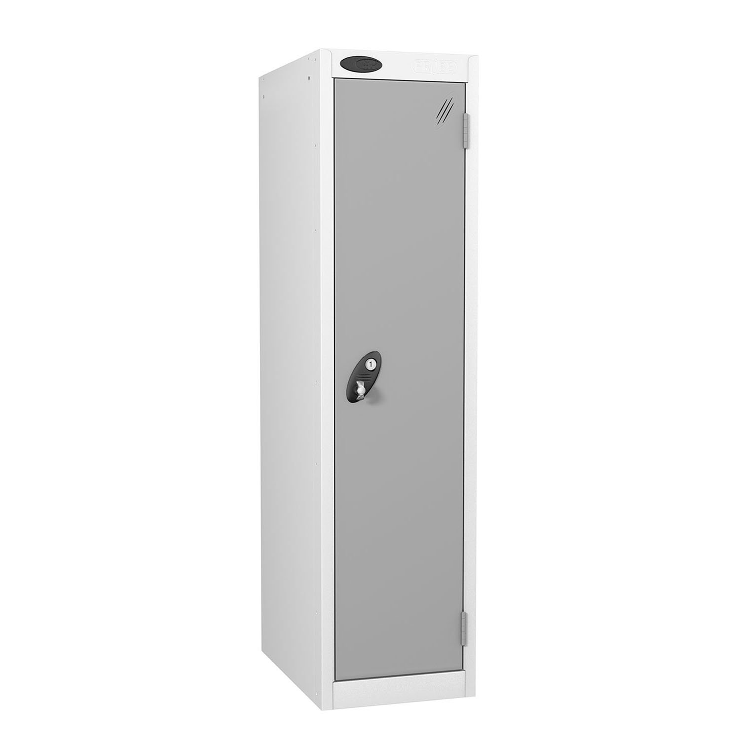 Probe 1 door low locker in silver colour