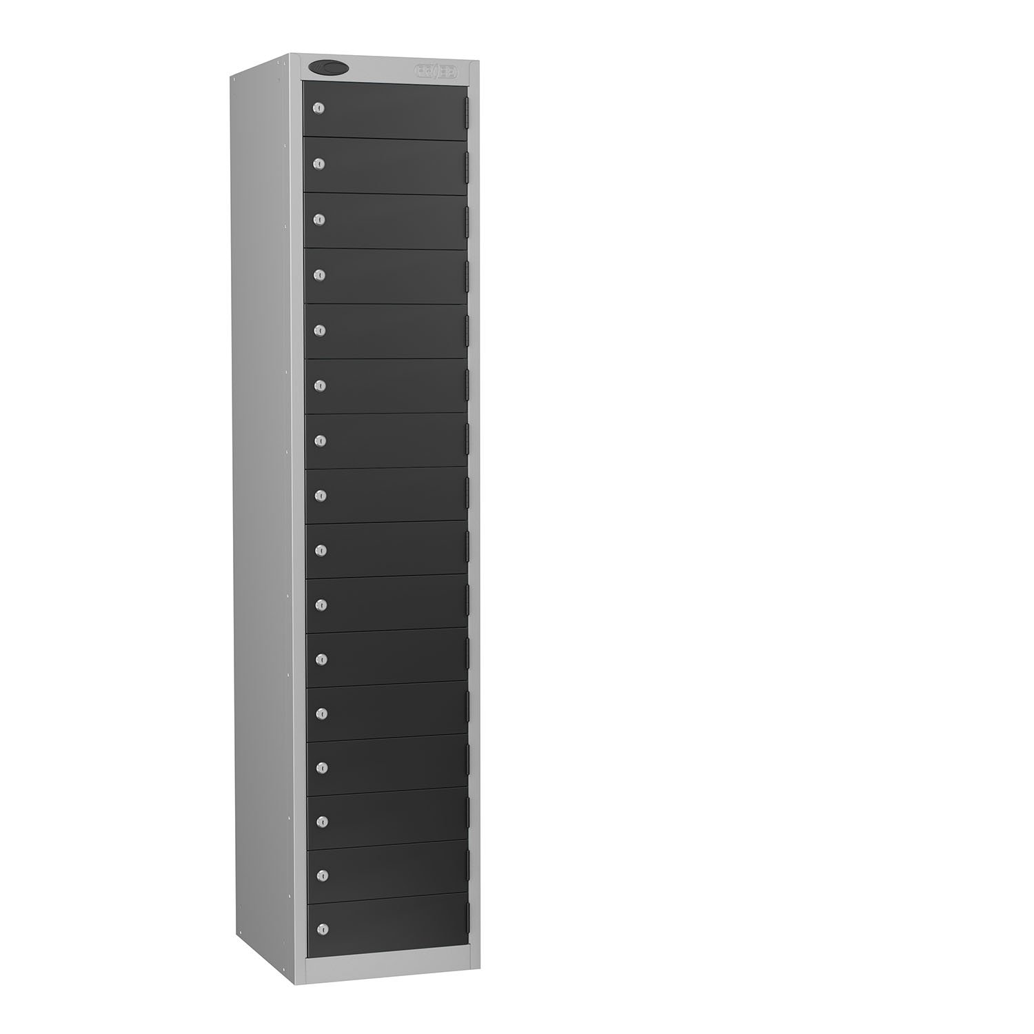 Probe 16 doors small compartments lockers in black colour