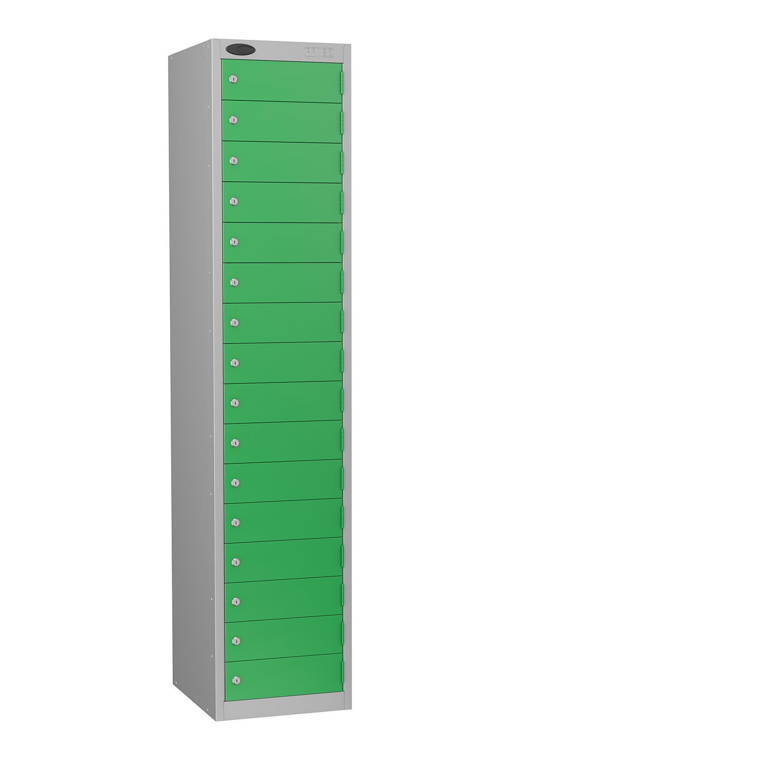 Probe 16 doors small compartments lockers in green colour