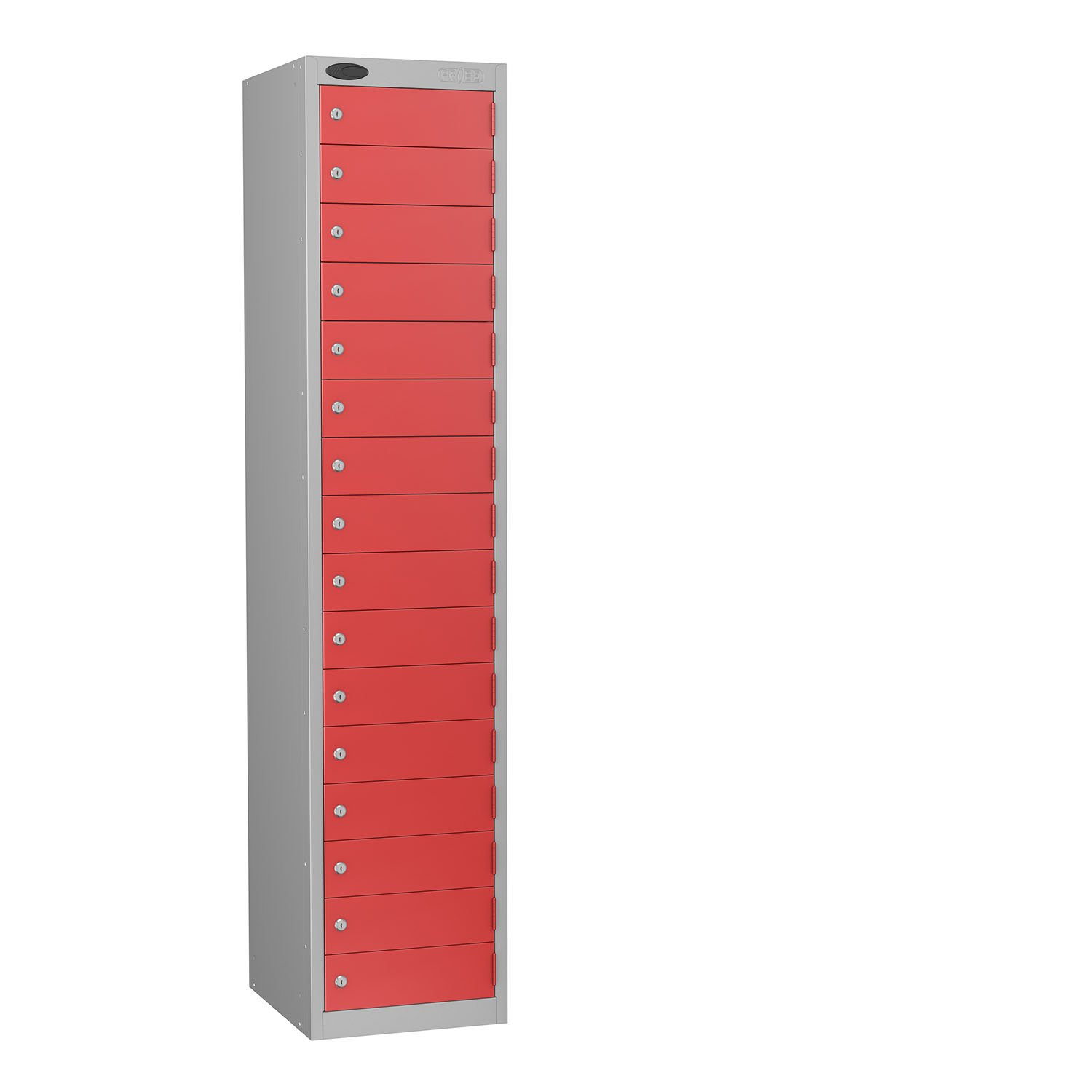 Probe 16 doors small compartments lockers in red colour